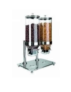 DISPENSADOR DOBLE DE CEREALES CON BASE LACOR MOD. 69023