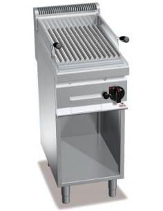 BARBACOA PARRILLA A GAS CON MUEBLE 400X700X900MM BERTO`S MOD PLG40M