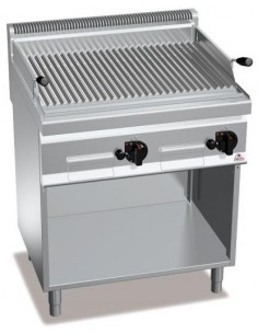 BARBACOA PARRILLA A GAS CON MUEBLE 800X700X900MM BERTO`S MOD PLG80M